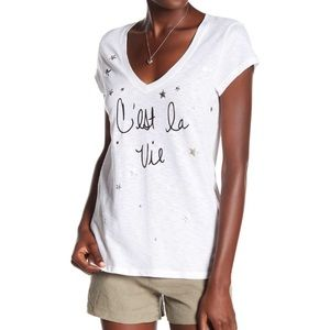 • michael stars c'est la vie v-neck star t shirt •